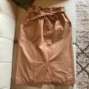 e.r.g* | Paper Bag Khaki Pencil Skirt Size 25-28